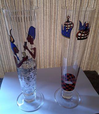 vasos cerveza de artista