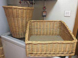 Cestas mimbre formato panaderia