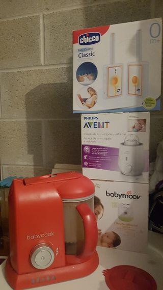 Babycook Beaba + Calienta biberones + Baby Control