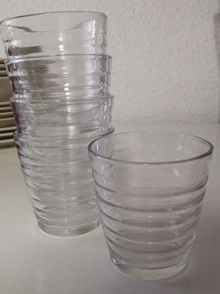 Pack 5 vasos de cristal