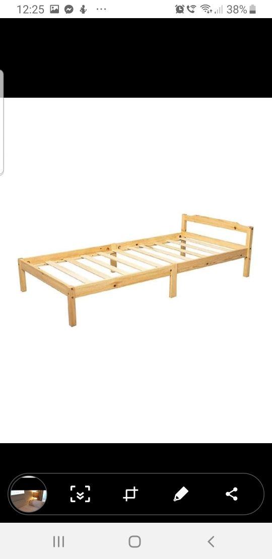 pine single bed + matress