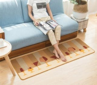 2 alfombras de 50x150 cm para cocina, sala....
