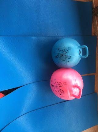 tapices para hacer ejercicio y pelotas