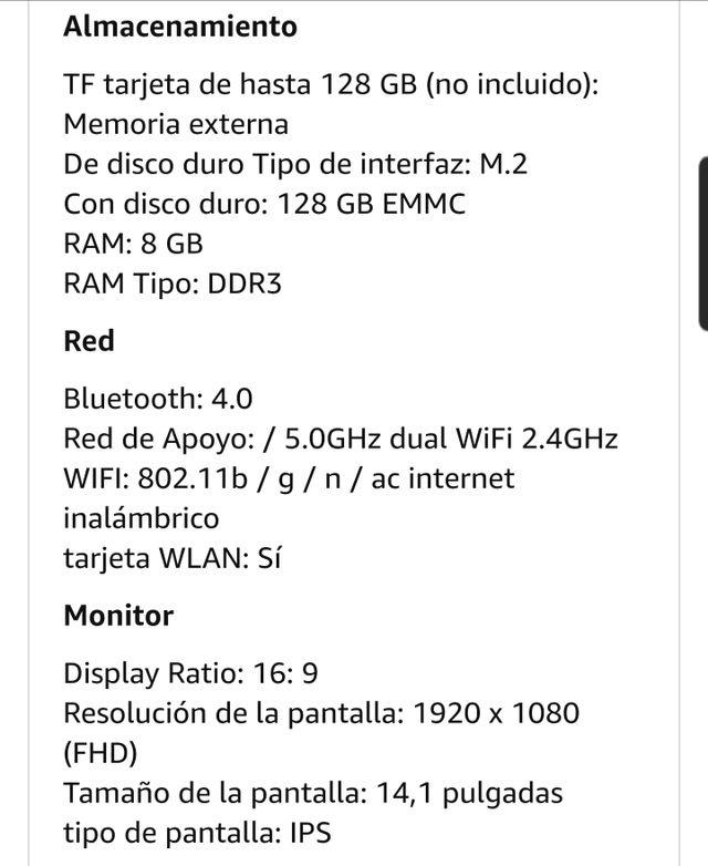 "Chuwi Lapbook Air 14"" portátil ordenador"