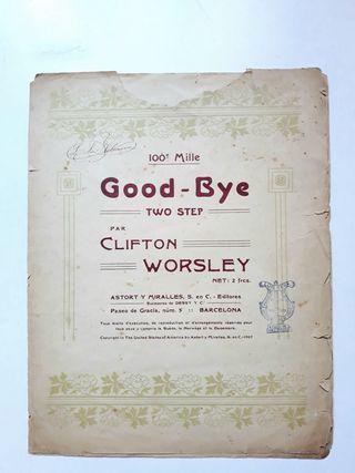 Antigua partitura GOOD BYE (Two Step) 1907 piano