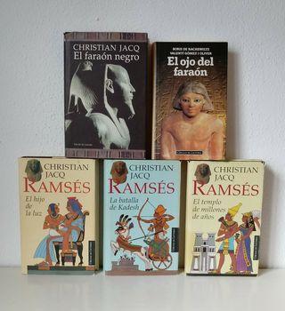 Lote novelas históricas Egipto.