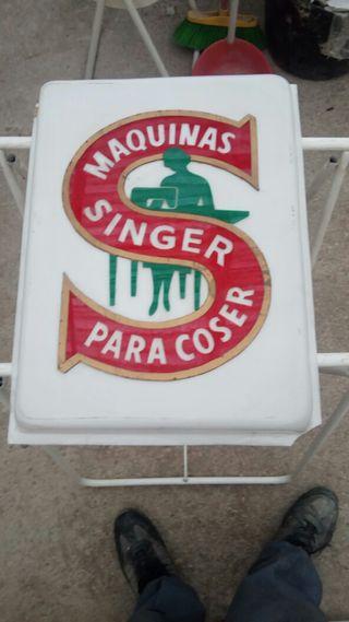 cartel antiguo máquinas de coser Singer