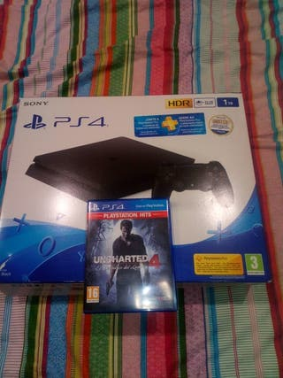 Ps4 slim 1 tb + uncharted 4
