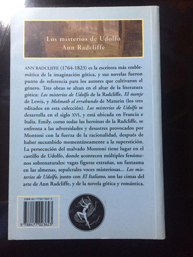 Los misterios de Udolfo, Ann Radcliffe