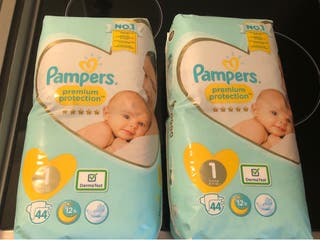 Couches pampers premium t1
