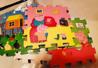 Alfombra puzzle Peppa Pig foam