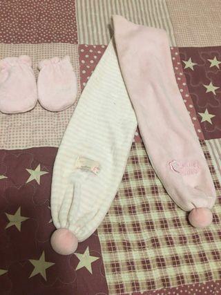 Bufanda y manoplas recién nacida de Mayoral