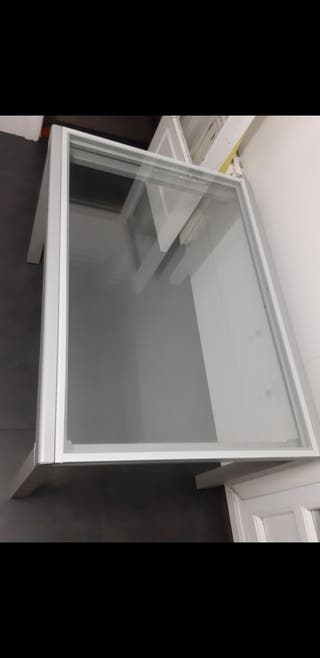 Mesa de Cristal de 90×120cm, desplegable
