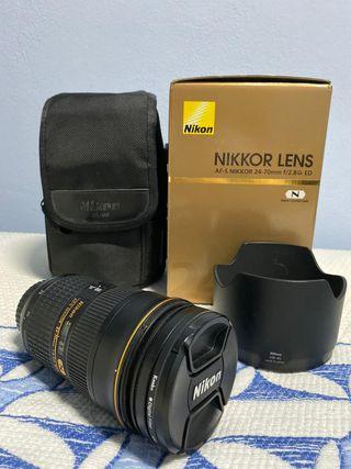 Objetivo AF-S Nikon 24-70mm f/2.8G ED