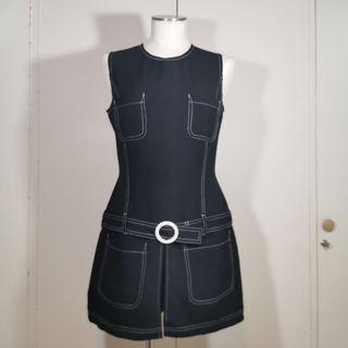 mini vestido falda pantalón años 60 vintage