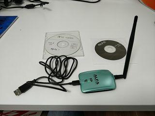 Tarjeta wifi con antena de largo alcance ALFA
