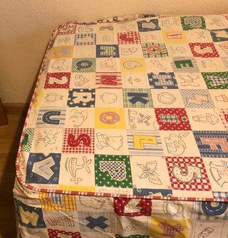 Colcha algodón cama 90