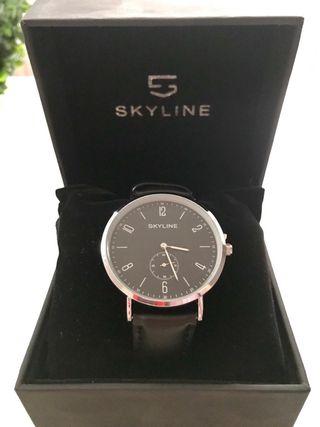 Reloj hombre correa de cuero Skyline
