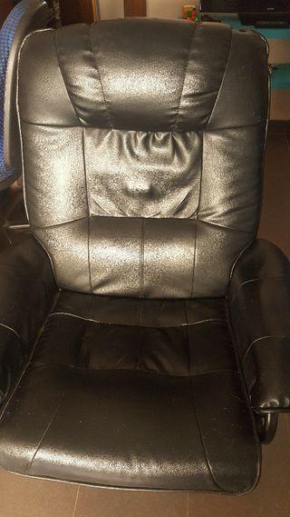sillón giratorio reciclable