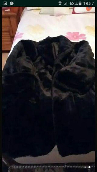 Abrigo piel de muton negro