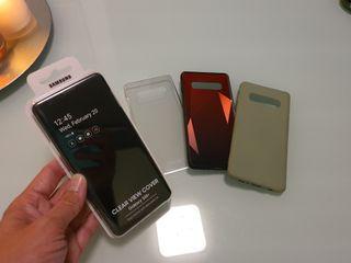Carcasa S.Galaxy S10+ (2 Originales y 2 otras)