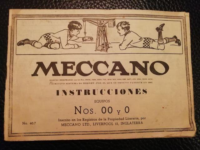 Instrucciones Meccano n 00 y 0