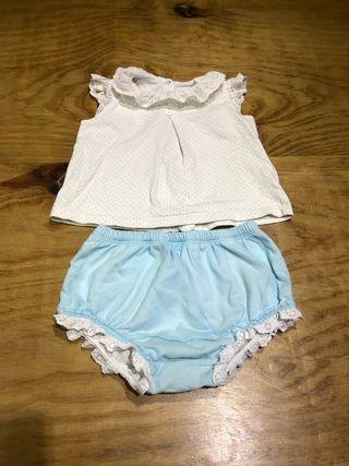 Talla 6-12 meses ropa bebé conjunto niña dulces