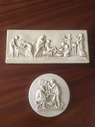 Escultura en bajorrelieve mitología.