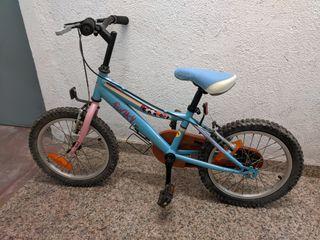 bicicleta AZUL SIN RUEDINES HASTA 7 AÑOS