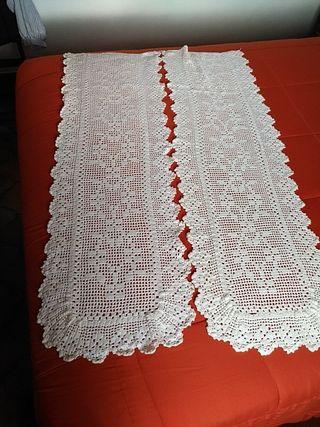 Visillos o cortinas algodón ganchillo