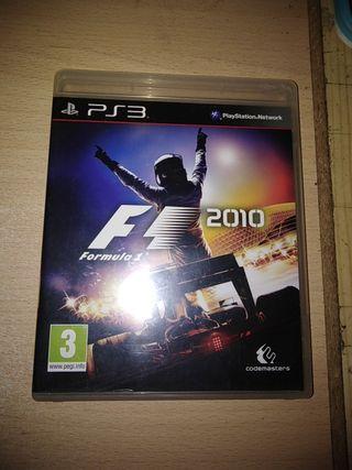 juego ps3 fórmula 1 2010