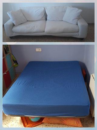 sofa grande + cama 135cm