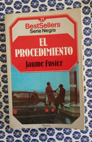 libro el procedimiento, novela negra