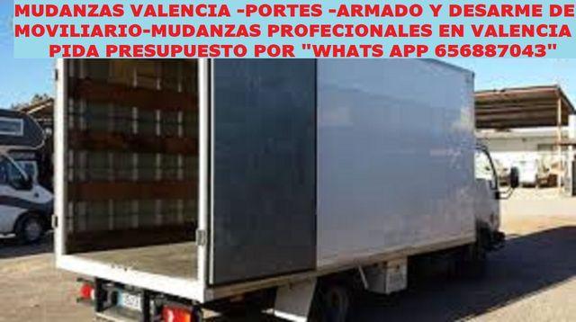 Mudanzas-Portes En Malilla-Xirivella- 656887043