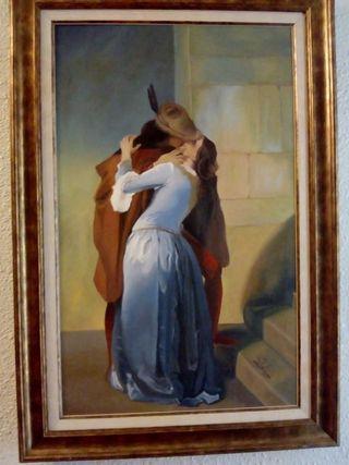 cuadro el beso