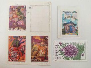 Lote 5 sellos variados