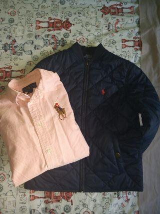 chaqueta y camisa niño Ralph lauren