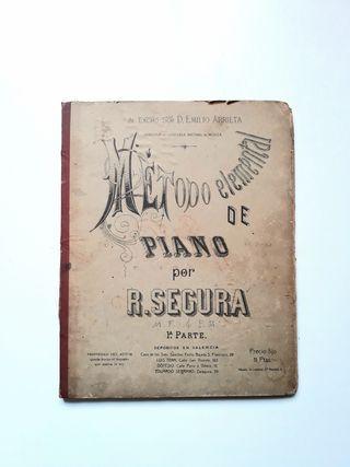 Método elemental de piano (I) R. Segura. 1879