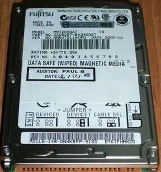 """disco duro ide 2,5"""" 40gb portatil"""