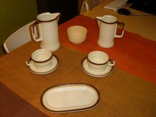 """Juego desayuno de cerámica """"Bidasoa"""""""