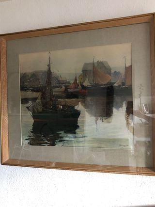 Cuadro barcos