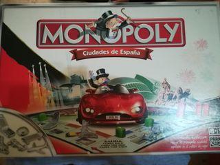 juego monopoly ciudades de España