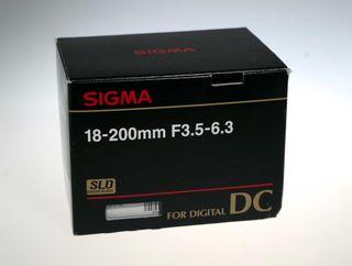 Objetivo Sigma 18-200 F3.5-6.3 DC para Nikon