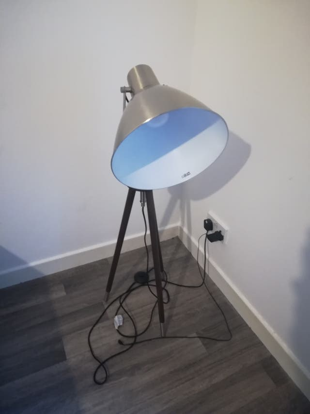 wooden metal lamp for reading