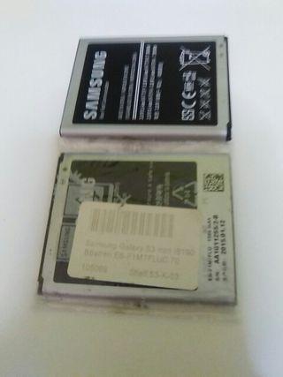 2 baterias SAMSUNG, una con el plastico nuevo