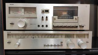 Sintonizador de radio y pletina para cassette