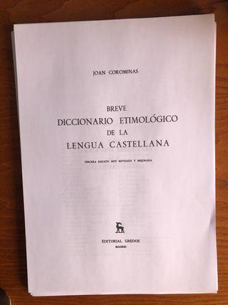 Diccionario etimológico Corominas