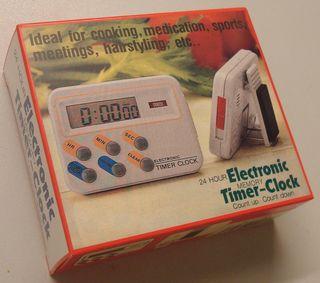 Reloj-temporizador de cocina-laboratorio