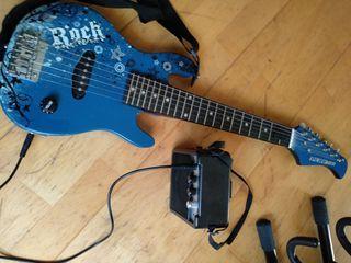 Guitarra eléctrica con ampli para niñ@s rock