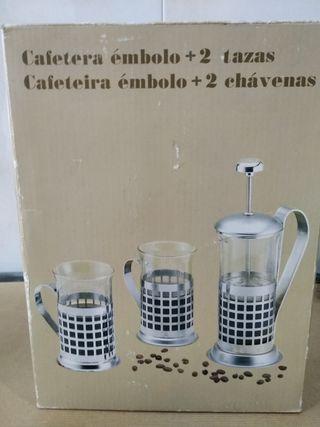 cafetera/ tetera+ tazas